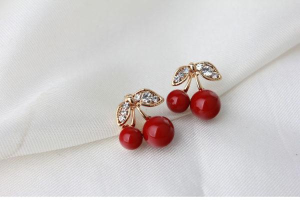 Red Cherry Stud