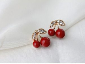 Red Cherry Stud