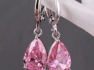 Pink-crystal-earring