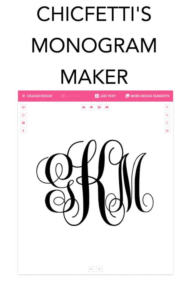 Monogram Maker - Make your own monograms using our free online maker