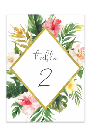 Table Numbers Free Printable Table Number Templates