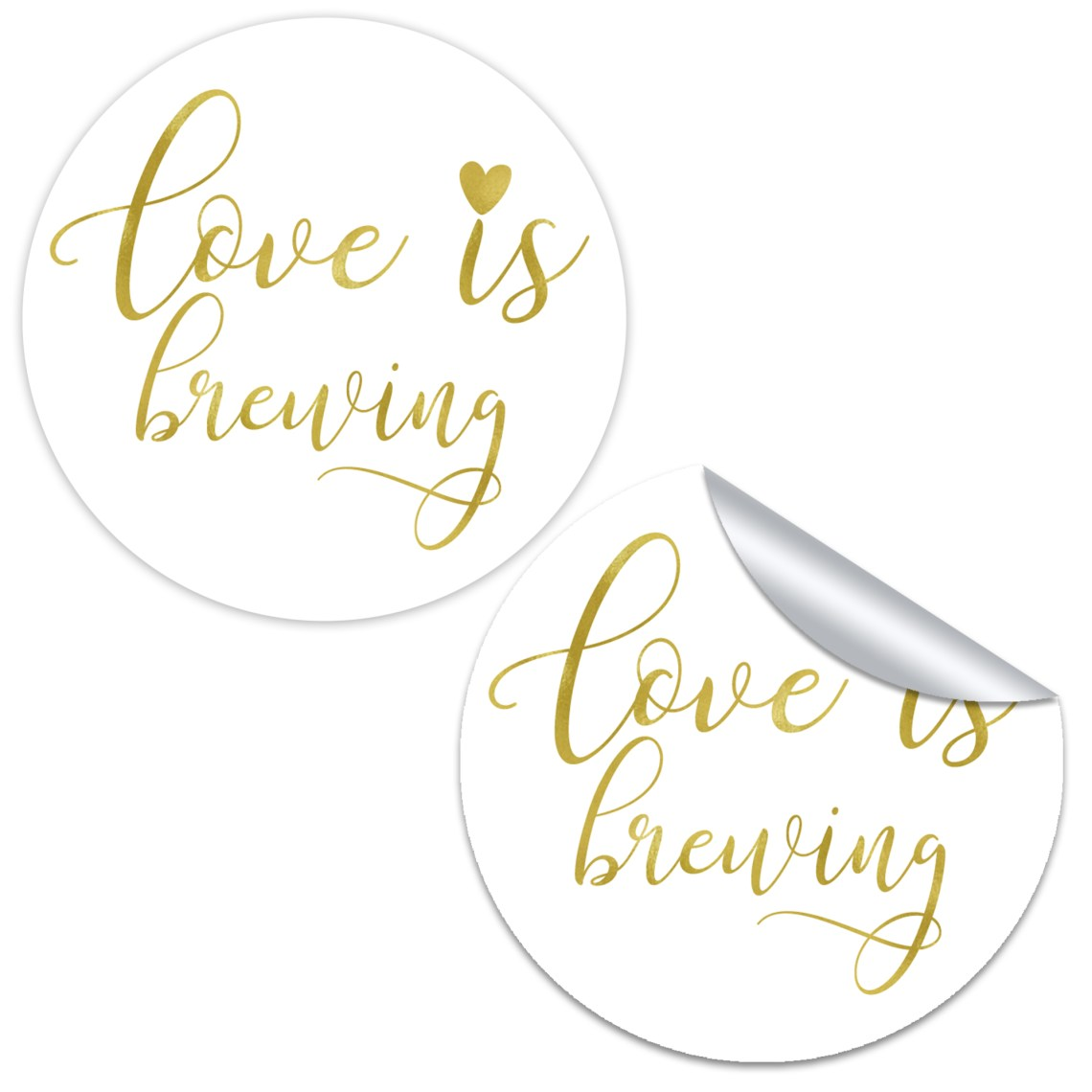 Download Love is Brewing Favor Stickers - Chicfetti