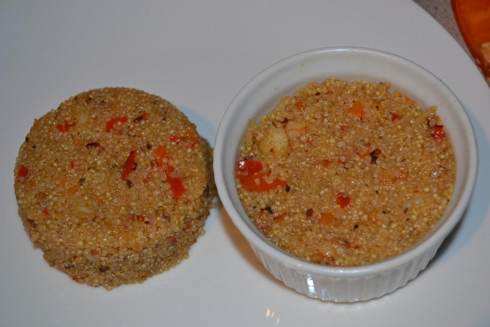 Curry Shrimp Quinoa w/ Roasted Red Peppers (Healthy & Diabetic-Friendly Recipe #20) (5/6)