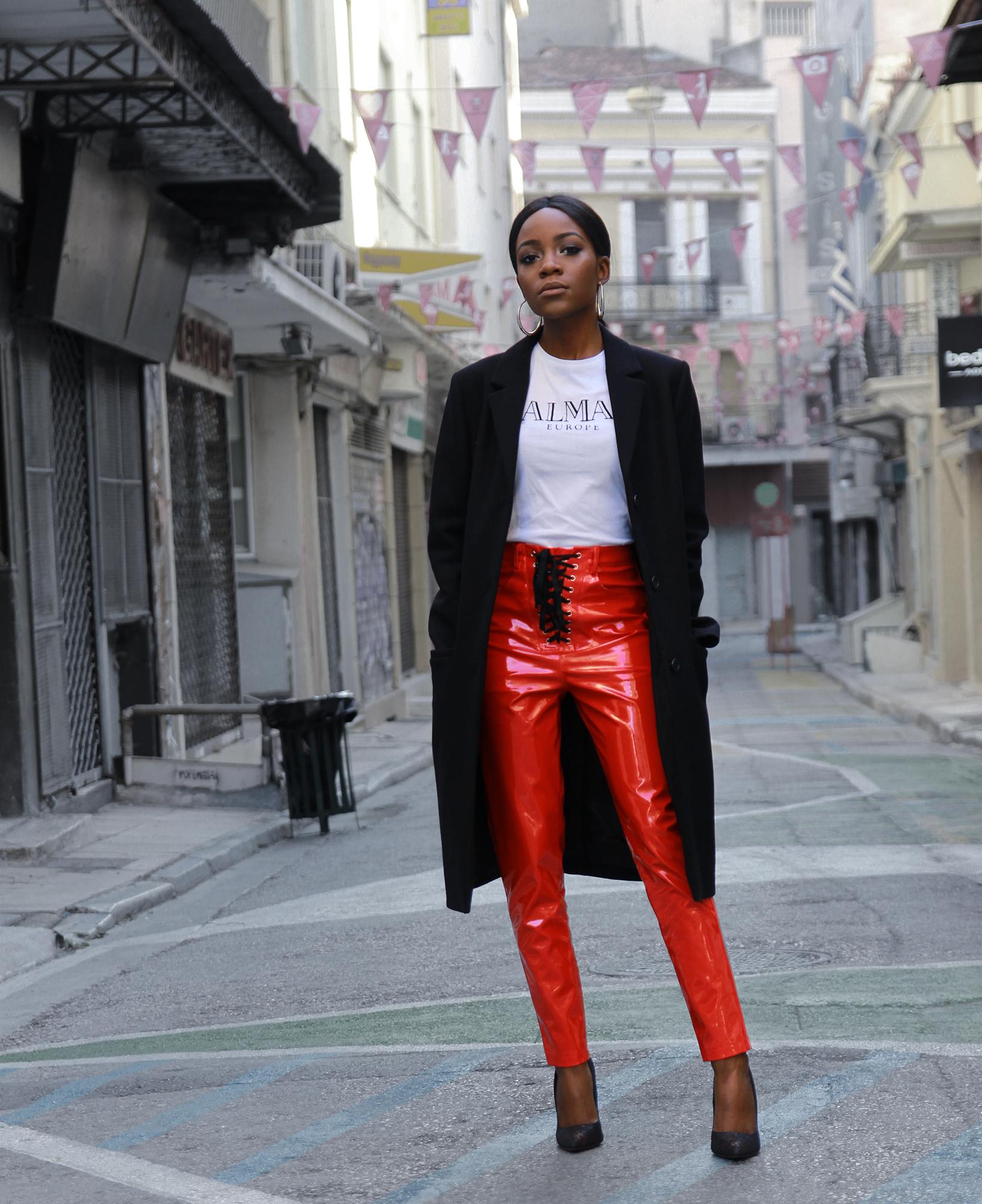 red-vinyl-pants