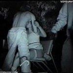 ベロンベロンに酔っ払った素人ギャルを公園のベンチの上でレイプするバカ男達を隠し撮り
