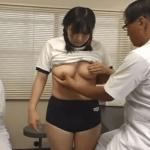 巨乳女子校生の乳首をしれっと弄ったりするセクハラ身体検査の様子
