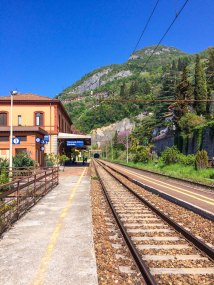 The train station Varenna-Esimo