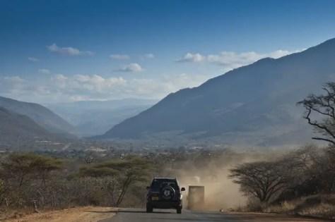 A Car on TanZam Highway