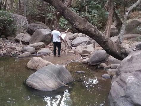 Guy on Easel at Morogoro Rock Garden