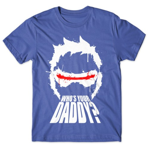 Who's Your Daddy? Soldier 76 - Overwatch tshirt kaos baju distro anime kartun jepang