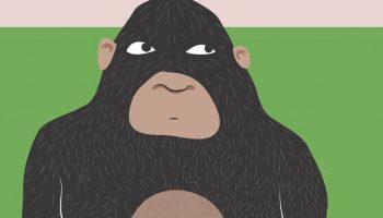 Illustration of a gorilla by Ken Wilson-Max @2018