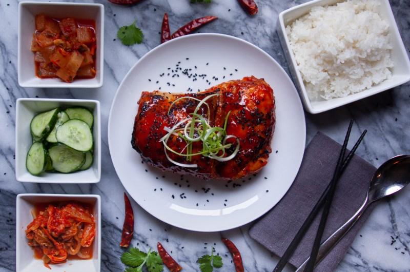 Gochujang Glazed Chicken Thighs