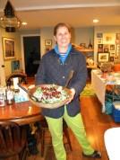 Rieman & her kale salad