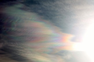 Rainbows in the clouds.