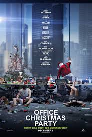 Office Christmas Party poster - Mainstream Chick's Quick Takes: Office Christmas Party; Miss Sloane; Jackie; Lion