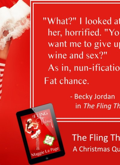 "BOOK FEATURE: ""The Fling Thing–A Christmas Quickie"""