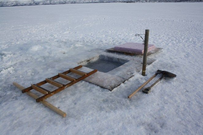 Staying health the Nordic way: sauna combined with a dip in the freezing water