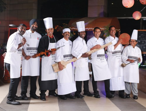 8 Marriott Chefs participating in Indian Culinary Week at MoMo Cafe, Courtyard by Marriott Gurgaon