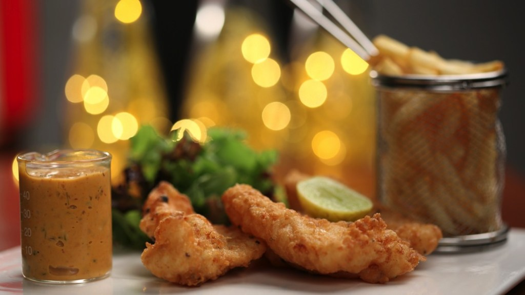 DEPOT29 - Crispy fried fish with chipotle tartar & French fries