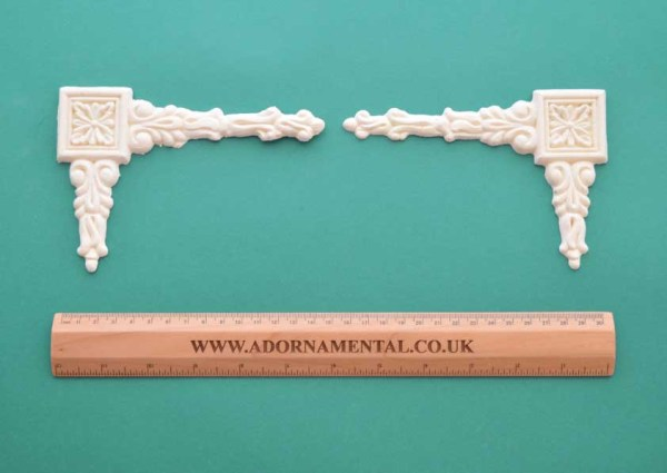Square Corner Drops -Pair Resin Moulding