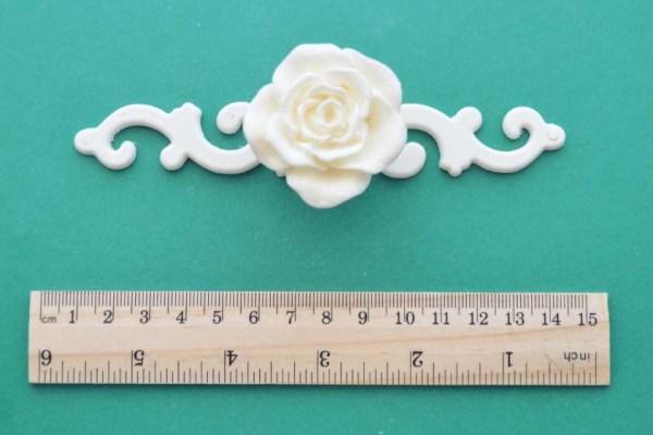 Rose Handle Scroll Back-plate