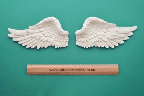 Pair of Large Wings Resin Moulding