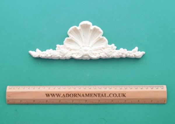Victorian Rose Shell Pediment