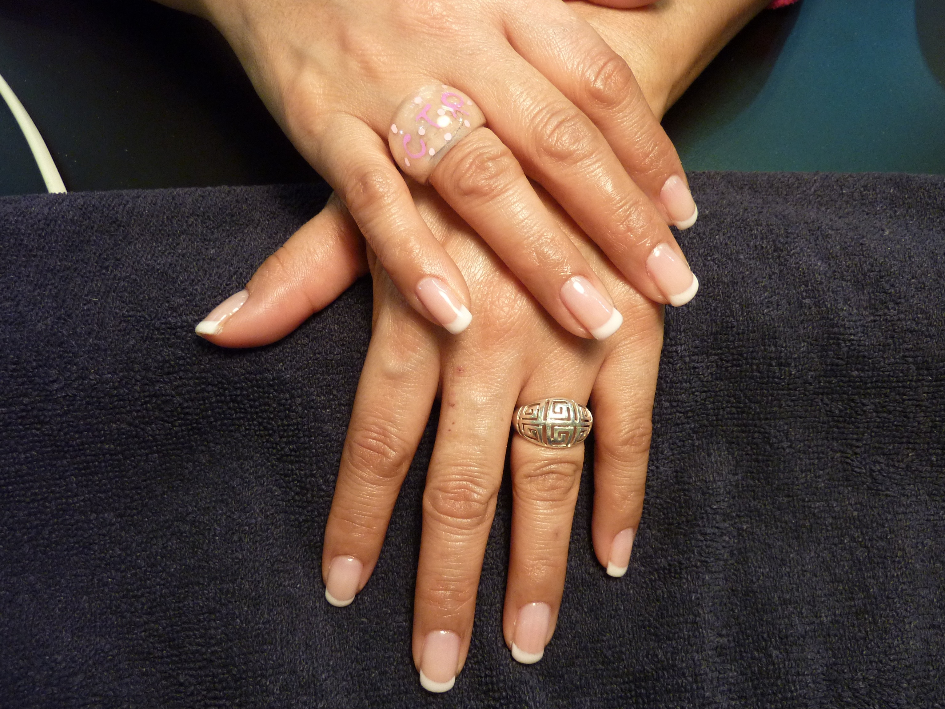 Julie French Manicure Gelish Sac Aium Gel Polish