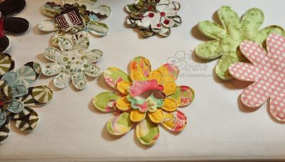 Quilt Flowers bunches