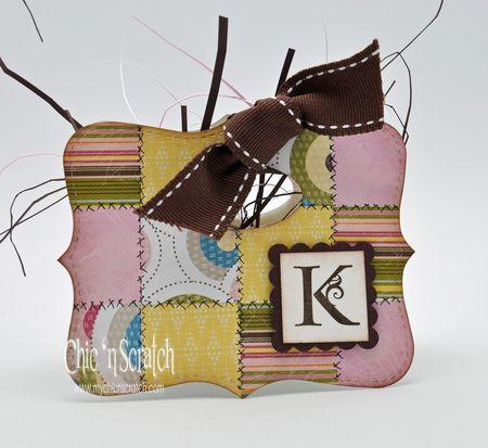 Faux Quilt Top note bag