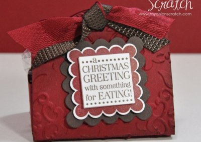12 Days of Christmas #10 Two Tags Christmas Treat Holder