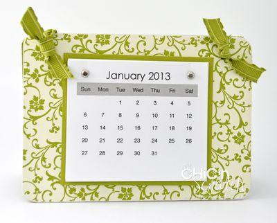 2013 Rectangle Coaster Calendar