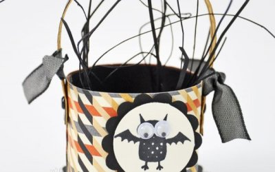 Halloween Toilet Paper Roll Basket