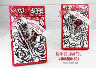 Sure Do Love You Valentine Box