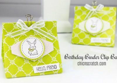 Birthday Binder Clip Bag