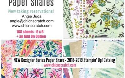 2018-2019 Designer Series Paper Shares