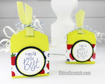 Label Me Pretty Scallop Tag Topper Box