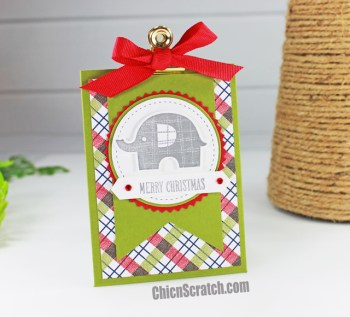 Gift Card Holder Featuring Little Elephant Stamp Set