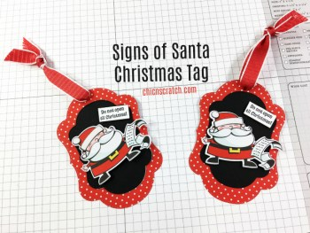 Signs of Santa Christmas Tag