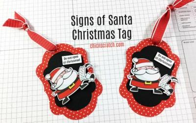 Signs of Santa Christmas Tag