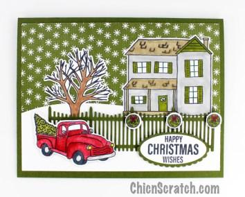 Farmhouse Christmas Stamp Kit – Card 2