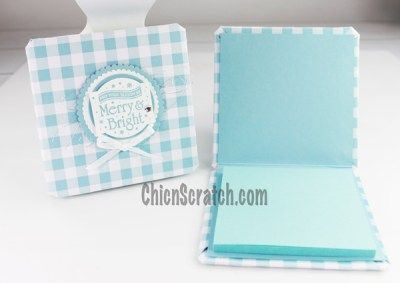Gingham Gala Coaster Post it Notes