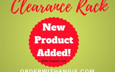 New Clearance Rack items – December 2018