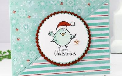 Double Triangle Fun Fold Christmas Card