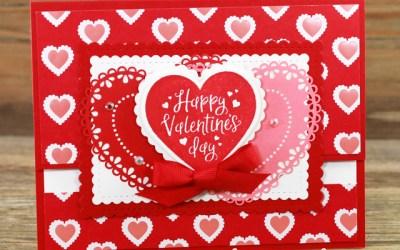 Fun Fold Valentine Card