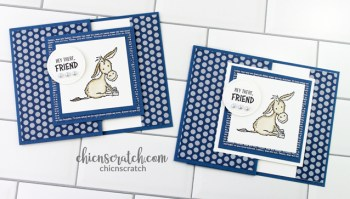 Darling Donkeys Fun Fold Gift Card