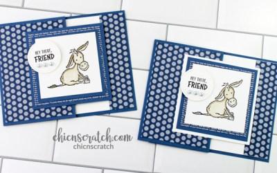 Darling Donkeys Fun Fold Gift Card