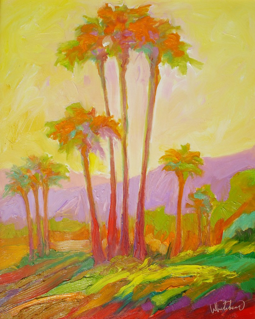 Richard Whiteread, Palms, oil, 16x20 inches, $1200.00