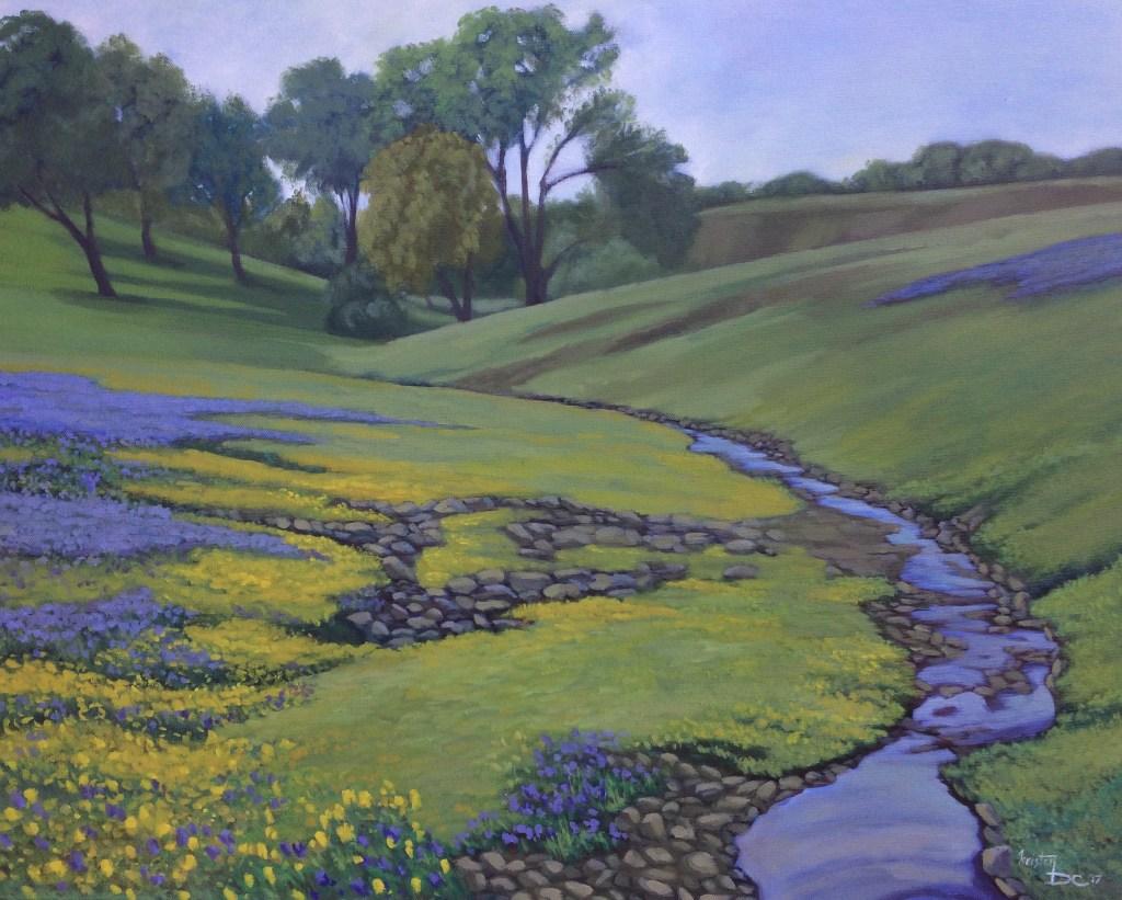 "Kristen DeMartini Carlos, ""Table Mountain"", 2017, Oils on Canvas, 24 x 30 inches, $475"