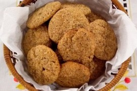 Cookies saudáveis de castanha de caju